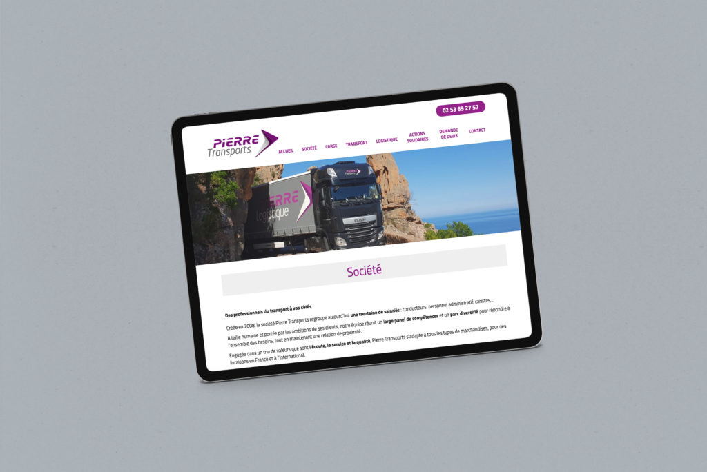 Pierre Transports-Redaction contenu site internet