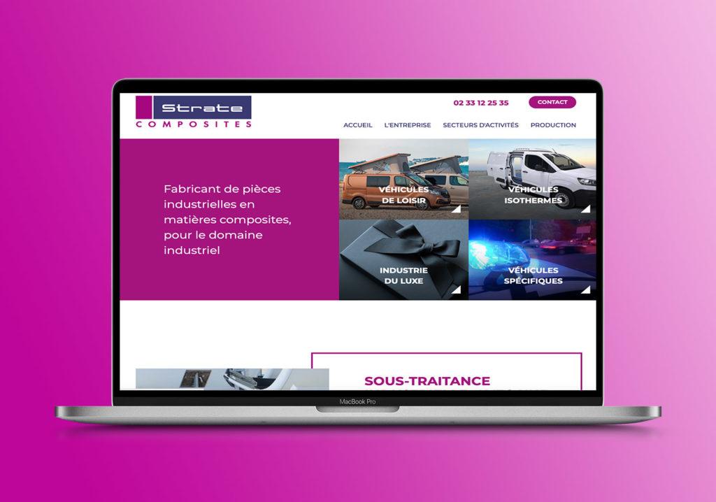 Strate Composites-Redaction contenu site web